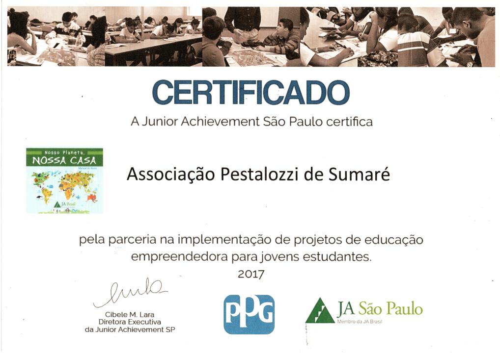 Certificado Pestalozzi